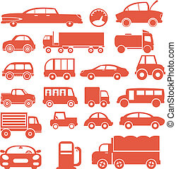 Icon set. Cars. For you design