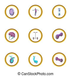 icon set, cartoon style