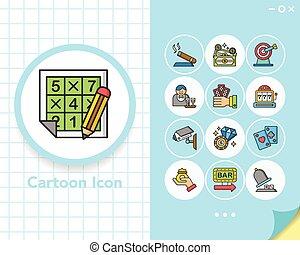 icon set casino vector