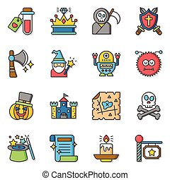 icon set character
