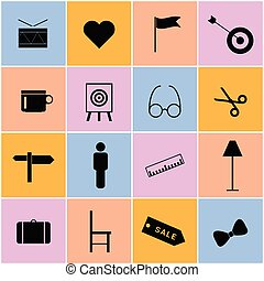 icon set color illustration