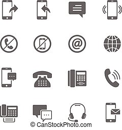 Icon set - communication