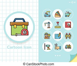 icon set construction vector