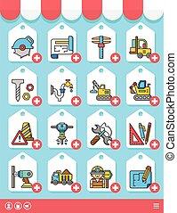 icon set construction vector