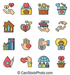 icon set donate