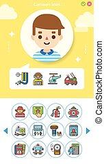 icon set emergency vector
