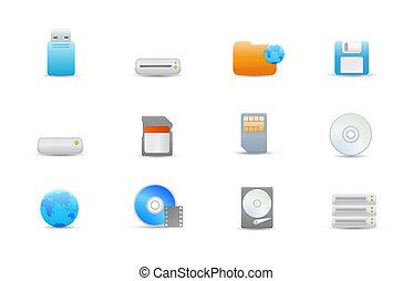 icon set - Vector illustration %u2013 set of elegant simple...