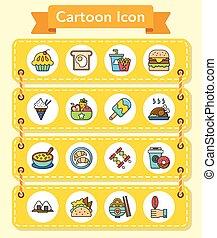 icon set food vector