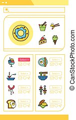 icon set food vector