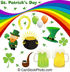 St. Patrick's Day - Icon set for St. Patrick's Day