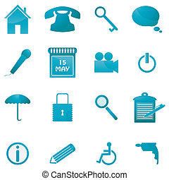 Icon Set for Web Applications - Vec