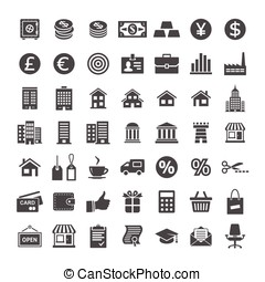 Icon set for website and app - Banking and merchant...