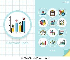 icon set graph vector
