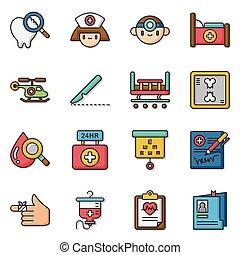 icon set hospital