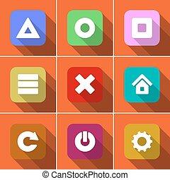 Icon set in flat design