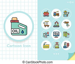 icon set industry vector