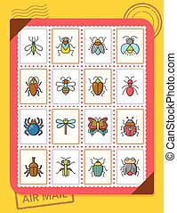 icon set insect vector