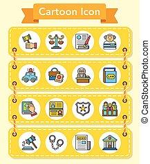 icon set law vector