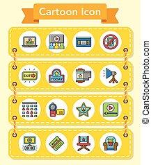 icon set movie vector