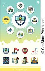 icon set navigation vector