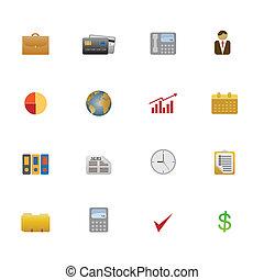 Icon set of business symbols