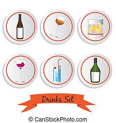 icon set of liquor