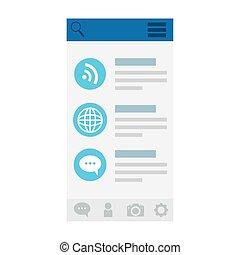 icon set on website screenshot design, Social media multimedia communication and digital marketing theme Vector illustration
