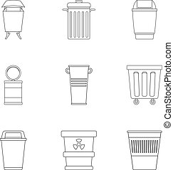 icon set, outline style