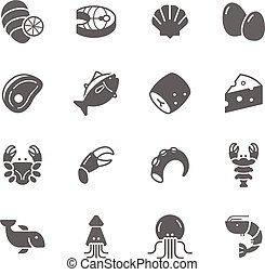 Icon set - raw food material