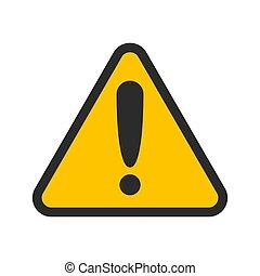 icon., set., reveil, signe, danger, vecteur, prudence, collection., attention