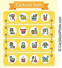 icon set sanitary vector