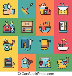 icon set sanitary vector