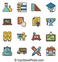 icon set school