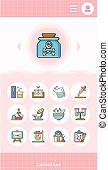 icon set science vector