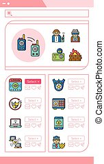 icon set security vector