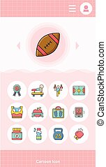 icon set sport vector