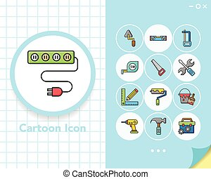 icon set tool vector