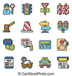 icon set traffic vector