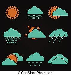 Icon set weather forecast