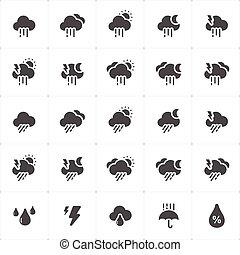 Icon set weather icon vector illustration