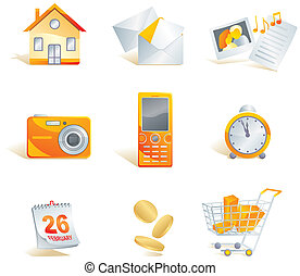 Icon set - web, commerce and electronics items