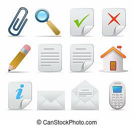 Web icons set: internet theme (12 icons)