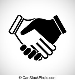Icon Shape Handshake for creative use in graphic design