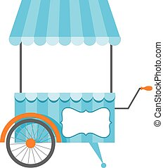 Icon shop on wheels isolated