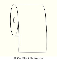 icon sign roll toilet paper vector symbol of purity paper towel