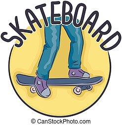 Icon Skateboard Illustration
