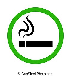 Icon smoking area. Vector illustration.