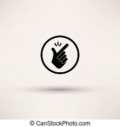Icon - snap of the fingers. Vector illustrations. - Icon -...