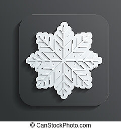 icon snowflake vector