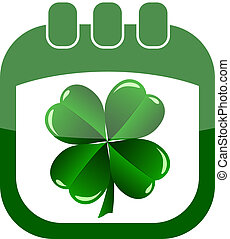 icon St Patrick Day in a calendar